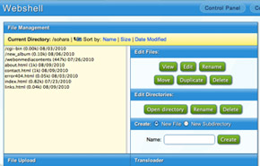WebShell Screen Shot